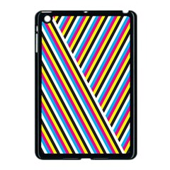 Lines Chevron Yellow Pink Blue Black White Cute Apple Ipad Mini Case (black) by Mariart