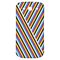 Lines Chevron Yellow Pink Blue Black White Cute Samsung Galaxy S3 S Iii Classic Hardshell Back Case by Mariart