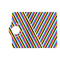 Lines Chevron Yellow Pink Blue Black White Cute Kindle Fire Hd (2013) Flip 360 Case by Mariart