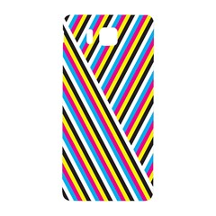 Lines Chevron Yellow Pink Blue Black White Cute Samsung Galaxy Alpha Hardshell Back Case by Mariart