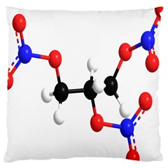 Nitroglycerin Lines Dna Large Cushion Case (two Sides) by Mariart