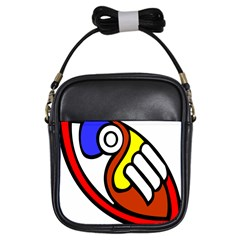 Pedernal Art Circle Sign Girls Sling Bags by Mariart