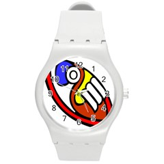 Pedernal Art Circle Sign Round Plastic Sport Watch (m) by Mariart