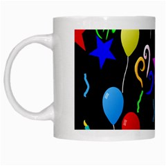 Party Pattern Star Balloon Candle Happy White Mugs by Mariart