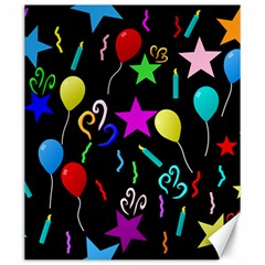 Party Pattern Star Balloon Candle Happy Canvas 20  X 24   by Mariart