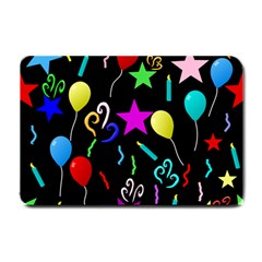 Party Pattern Star Balloon Candle Happy Small Doormat  by Mariart