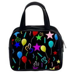 Party Pattern Star Balloon Candle Happy Classic Handbags (2 Sides) by Mariart