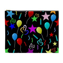 Party Pattern Star Balloon Candle Happy Cosmetic Bag (xl) by Mariart