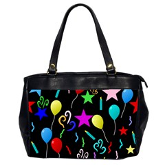 Party Pattern Star Balloon Candle Happy Office Handbags (2 Sides)  by Mariart