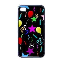 Party Pattern Star Balloon Candle Happy Apple Iphone 4 Case (black) by Mariart