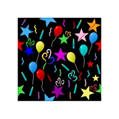 Party Pattern Star Balloon Candle Happy Acrylic Tangram Puzzle (4  X 4 ) by Mariart