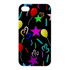 Party Pattern Star Balloon Candle Happy Apple Iphone 4/4s Premium Hardshell Case by Mariart
