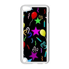 Party Pattern Star Balloon Candle Happy Apple Ipod Touch 5 Case (white) by Mariart