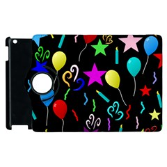 Party Pattern Star Balloon Candle Happy Apple Ipad 2 Flip 360 Case by Mariart