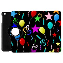 Party Pattern Star Balloon Candle Happy Apple Ipad Mini Flip 360 Case by Mariart
