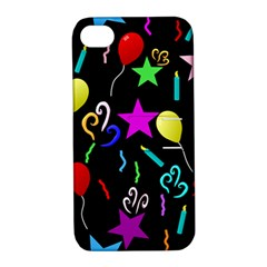 Party Pattern Star Balloon Candle Happy Apple Iphone 4/4s Hardshell Case With Stand by Mariart