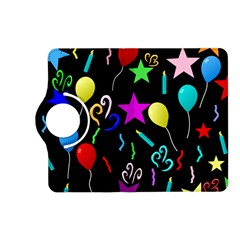 Party Pattern Star Balloon Candle Happy Kindle Fire Hd (2013) Flip 360 Case by Mariart