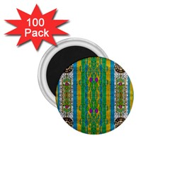Rainbows Rain In The Golden Mangrove Forest 1 75  Magnets (100 Pack)  by pepitasart