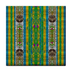 Rainbows Rain In The Golden Mangrove Forest Face Towel by pepitasart