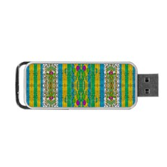Rainbows Rain In The Golden Mangrove Forest Portable Usb Flash (one Side) by pepitasart