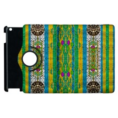 Rainbows Rain In The Golden Mangrove Forest Apple Ipad 2 Flip 360 Case by pepitasart