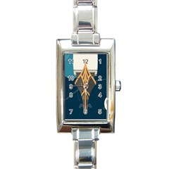 Planetary Resources Exploration Asteroid Mining Social Ship Rectangle Italian Charm Watch by Mariart