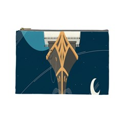 Planetary Resources Exploration Asteroid Mining Social Ship Cosmetic Bag (large)  by Mariart