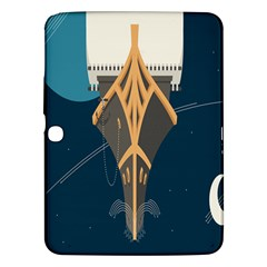 Planetary Resources Exploration Asteroid Mining Social Ship Samsung Galaxy Tab 3 (10 1 ) P5200 Hardshell Case  by Mariart