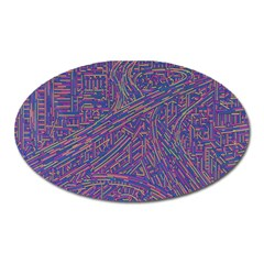 Infiniti Line Building Street Line Illustration Oval Magnet by Mariart