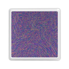 Infiniti Line Building Street Line Illustration Memory Card Reader (square)  by Mariart