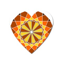 Ornaments Art Line Circle Heart Magnet by Mariart