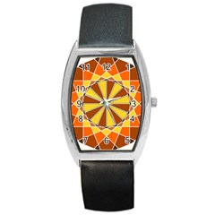 Ornaments Art Line Circle Barrel Style Metal Watch by Mariart