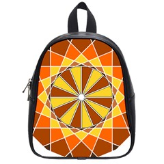 Ornaments Art Line Circle School Bag (small) by Mariart