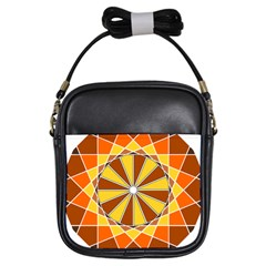 Ornaments Art Line Circle Girls Sling Bags by Mariart