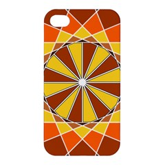 Ornaments Art Line Circle Apple Iphone 4/4s Premium Hardshell Case by Mariart