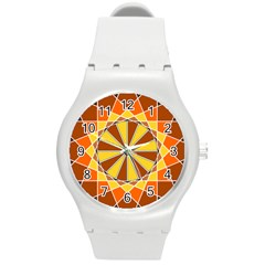 Ornaments Art Line Circle Round Plastic Sport Watch (m) by Mariart
