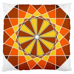 Ornaments Art Line Circle Large Cushion Case (two Sides) by Mariart