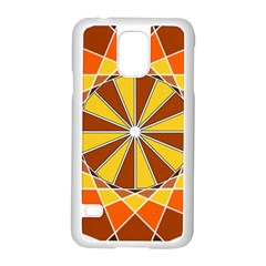 Ornaments Art Line Circle Samsung Galaxy S5 Case (white)