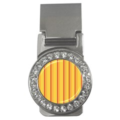 Red Orange Lines Back Yellow Money Clips (cz)  by Mariart