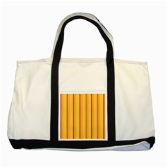 Red Orange Lines Back Yellow Two Tone Tote Bag by Mariart