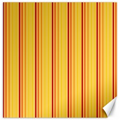 Red Orange Lines Back Yellow Canvas 16  X 16   by Mariart