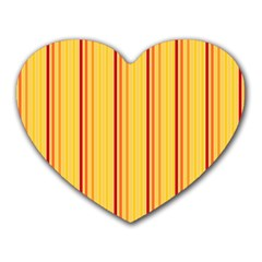 Red Orange Lines Back Yellow Heart Mousepads by Mariart
