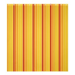Red Orange Lines Back Yellow Shower Curtain 66  X 72  (large)  by Mariart