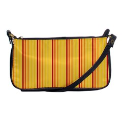 Red Orange Lines Back Yellow Shoulder Clutch Bags by Mariart