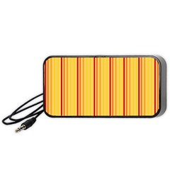 Red Orange Lines Back Yellow Portable Speaker (black) by Mariart