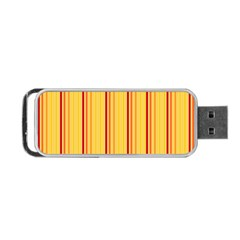Red Orange Lines Back Yellow Portable Usb Flash (two Sides) by Mariart