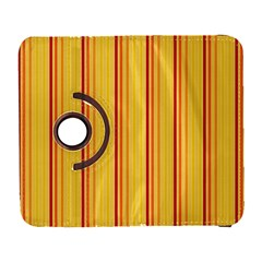 Red Orange Lines Back Yellow Galaxy S3 (flip/folio) by Mariart