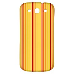 Red Orange Lines Back Yellow Samsung Galaxy S3 S Iii Classic Hardshell Back Case by Mariart
