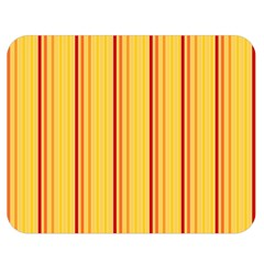 Red Orange Lines Back Yellow Double Sided Flano Blanket (medium)  by Mariart