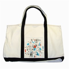 Science Mathematics Formula Two Tone Tote Bag by Mariart